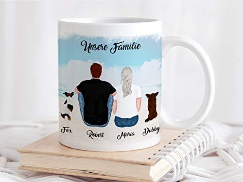 Personalisierte Tasse Herrchen und Hund Frauchen und Haustier mit Namen und Spruch