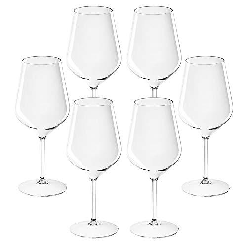 TUNDRA ICE INTERNATIONAL Copa de vino de 6 piezas, 47cl, en Tritan®...