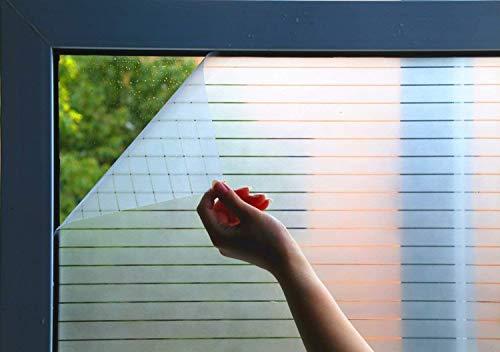 havalime Premium Fensterfolie, Sichtschutz, Milchglas, matt satiniert, statische Folie, selbsthaftend ohne Klebstoff, bietet UV-Schutz, Privatsphäre (200 x 90 cm Streifen)