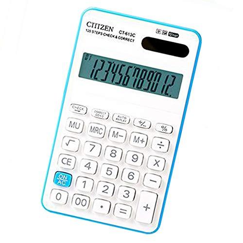 Bureaurekenmachine, professionele rekenmachine, 12-cijferige accu, op zonne-energie, geschikt voor business/kantoor of studenten. random color