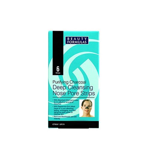 Beauty Formulas-Active - Charcoal Deep Cleansing Nose Pore Strips