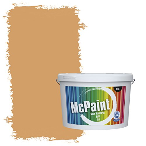 McPaint Bunte Wandfarbe Ocker - 10 Liter - Weitere Gelbe Farbtöne Erhältlich - Weitere Größen Verfügbar