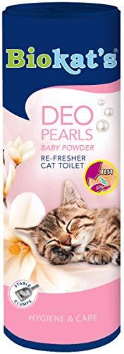 Biokat's Deo Pearls Baby Powder - Streuzusatz mit Duft für Frische und feste Klumpen in der Katzentoilette - 6 Dosen (6 x 700 g)