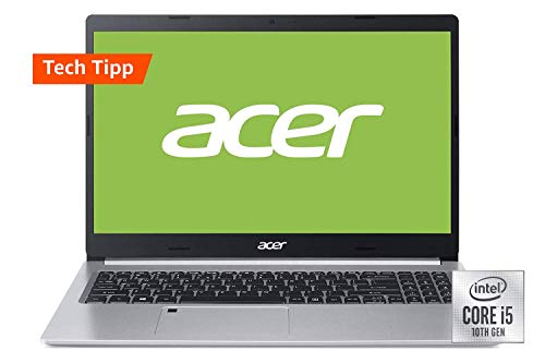 Acer Aspire 5 (A515-54G-59HB) 39,6 cm (15,6 Zoll Full-HD IPS matt) Multimedia Laptop (Intel Core i5-10210U, 8 GB RAM, 512 GB PCIe SSD, NVIDIA GeForce MX350, Win 10 Home) silber