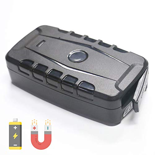 Magnetic GPS Tracker for Vehicles Equipment Trailers, Rechargeable Long Life Battery, Real Time Live GPS Tracking (Includes SIM Card and 1 Month Service)