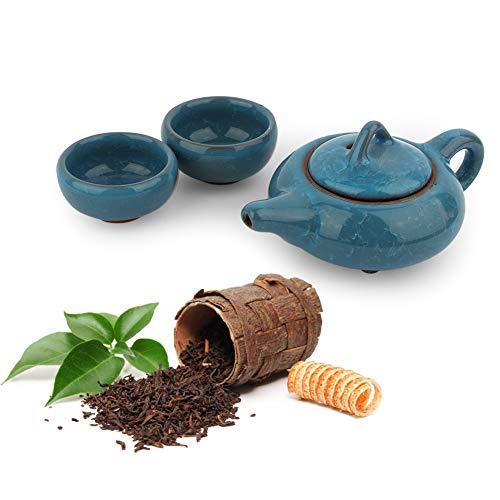 Jinyi Juego de té, Taza de té, patrón de Grietas único Azul Cielo Moderno Estilo Oriental Cocina de Oficina en casa