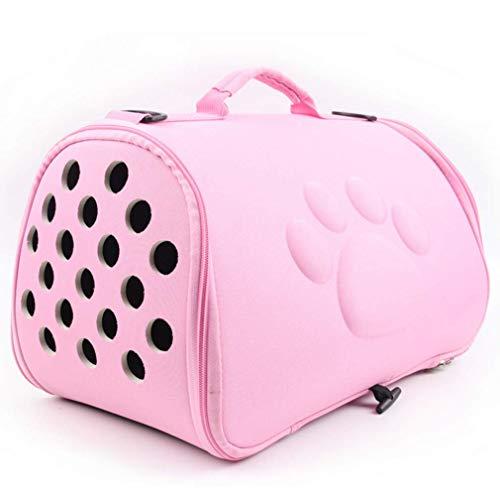 NVTED Faltbare Haustier-Tragetasche für Hunde und Katzen, weich, tragbar, Eva-Material, für kleine oder mittelgroße Hunde und Katzen, Rose