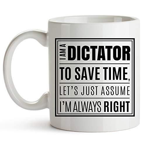 Taza del dictador, taza de café del dictador divertido