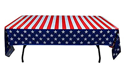 Pack of 6 Disposable 4th of July Table Cloths