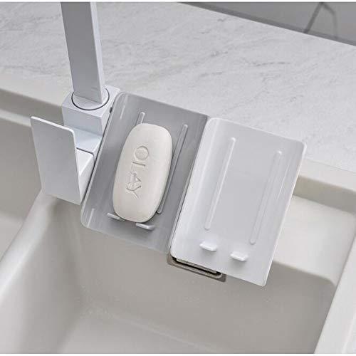 YOPU 2 jaboneras con ventosa, jabonera en forma de hoja, con drenaje, soporte de pared de ducha, jabonera, jabonera, estilo minimalista para la cocina del hogar.