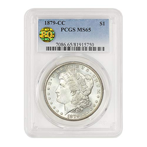 1879 CC American Silver Morgan Dollar MS-65 PQ Approved by CoinFolio $1 MS65 PCGS
