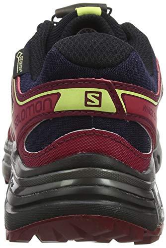 Salomon Salomon Damen Wings Flyte 2 GTX Trailrunning-Schuhe, blau (evening blue/beet red/sunny lime), Gr. 38