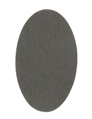 2 x Knieschoner aus grauem Wildleder zum Aufbügeln. Ellbogenschützer zum Schutz Ihrer Kleidung und Reparatur von Hosen, Jacken, Pullover, Hemden. 16 x 10 cm Ref. 92 Grau