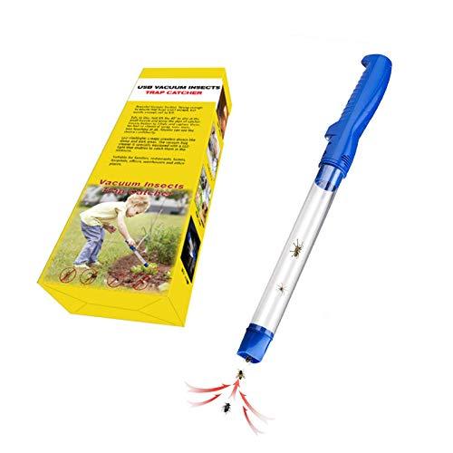 Sumeber Fliegen Sauger Akku Insekten Spinnen-Saugertierfreundlicher Spinnenfänger mit LED-Leuchte (Insektensauger)
