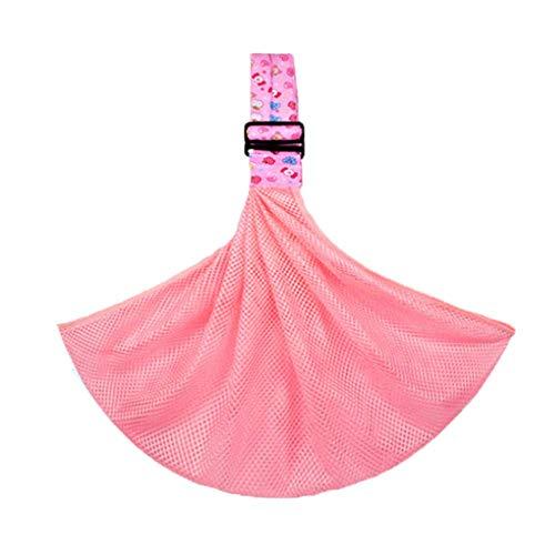 Asseny Baby Schlinge Trage Ring Tragetuch Verstellbar Atmungsaktiv Netz Weich Stillen Beutel Säugling - Pink Candy