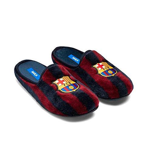 Zapatillas Oficiales FC Barcelona Clásicas Zapatillas de Estar por casa Hombre Invierno Otoño - 38.5 EU