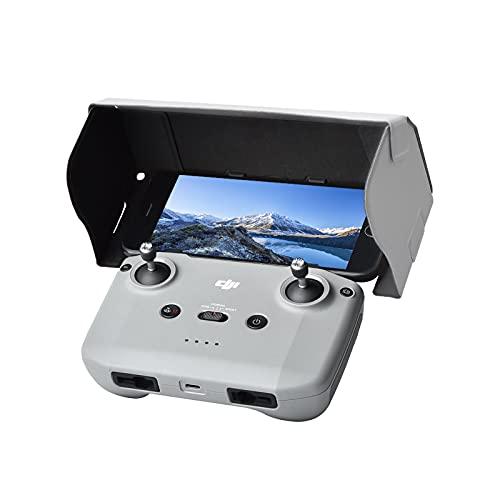 Sun Hood Sunshade für DJI Mavic Mini 2 Fernbedienung, Mavic Air 2 Zubehör Fernbedienung Halterung Handy Sun Hood Sunshade für 4,4-7,1-Zoll-Smartphone-Bildschirm grau