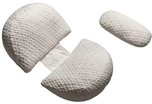 XBSXP Almohada de Embarazo para Dormir de Lado Almohadas de Maternidad Ajustables para Dormir Snoogle Almohada para el Cuerpo Cuña para la Espalda Regalos de Embarazo para mamás por Prim