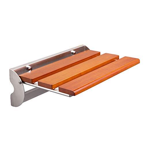 Inklapbare kruk van roestvrij staal Antislip badkruk voor ouderen Ouderen/zwangere/gehandicapte badkamer kruk,Brown,L