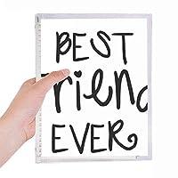 友情の親友の言葉の引用 硬質プラスチックルーズリーフノートノート