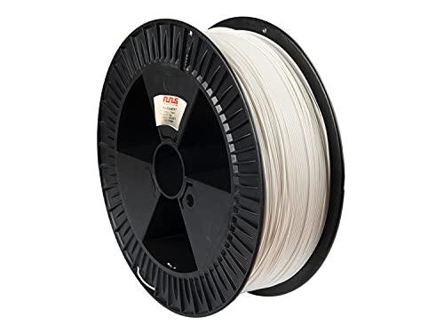 NuNus Filamento PLA de 1,75 mm, fabricado en Europa, calidad prémium en diferentes colores, rollo de 1 kg, PLA de 1,75 mm para impresoras 3D, lápiz 3D, todo tipo de impresoras 3D (blanco 2 kg)