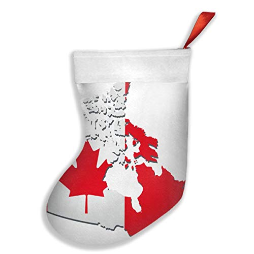 Ye Hua Kanada Flagge Karte Weihnachtsstrümpfe Manschette Strümpfe für Familienurlaub Xmas Party Dekorationen