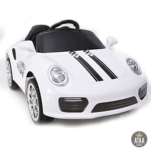 ATAA CARS Booster Batterie 6v - Blanc - Voiture électrique pour Enfants avec télécommande - Bon...