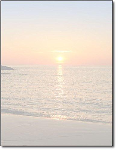 Beach Sunset Stationery Paper - 80 Sheets