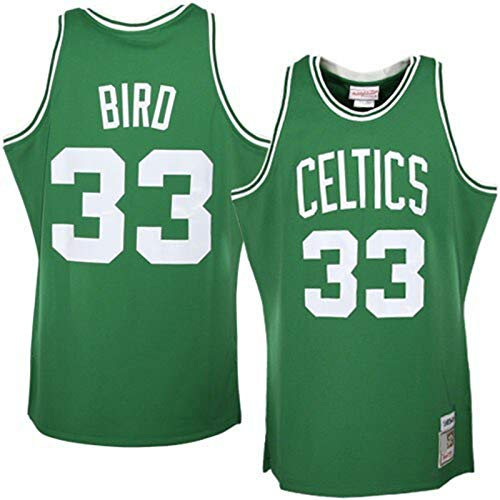 YAMADAI Kelly Green - PopularBird Mesh Boston Custom Celtics Jersey de baloncesto #33 Larry Hardwood Classics Jersey Icon Edition-L