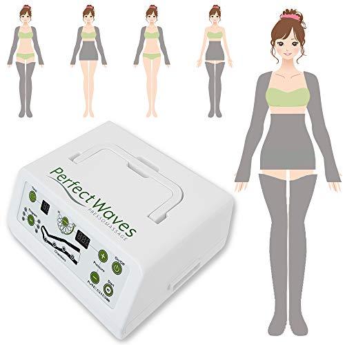 MESIS Pressoterapia Perfect Waves Pressomassage Complete (con 2 gambali, Kit Slim Body, 2 bracciali e borsa per accessori)
