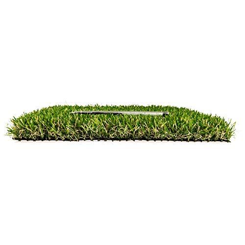 Herbe synthétique EN71 bicolor – pour jardin balcon – Rouleau 2 x 5 mt – Couchage haut 35 mm