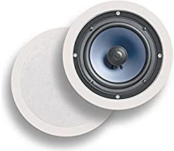 Polk Audio RC60i 2-way Premium In-Ceiling 6.5 Round Speakers, Set of 2, Damp and Humid Indoor/Outdoor Placement - Bath, Ki...