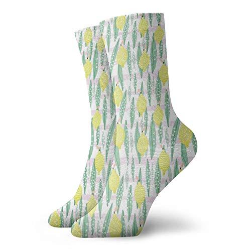 Calcetines cortos de longitud de pantorrilla, de color pastel, tablas de madera de roble de una casa de campo en el país, estilo de vida natural, calcetines para mujeres y hombres, mejor para correr