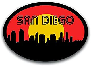 San Diego California Skyline Vinyl Decal Sticker | Cars Trucks Vans SUVs Windows Walls Cups Laptops | Full Color Printed | 5.5 Inch | KCD2591