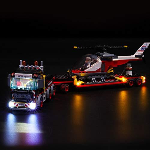Nlne Kit di Illuminazione A LED per Lego City Trasportatore Carichi Pesanti, Compatibile con Il Modello Lego 60183 Mattoncini da Costruzioni(Non Incluso nel Modello)
