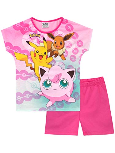 Pokemon Mädchen Pikachu und Jigglypuff Schlafanzug Rosa 128