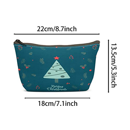 LANURA Santa Toiletry Bags Christmas Background Year Banner Christmas Sale Voucher Newsletter S Ads Coupons Social Makeup Cases Adorable Pencil Packet For Travel Party Women 2