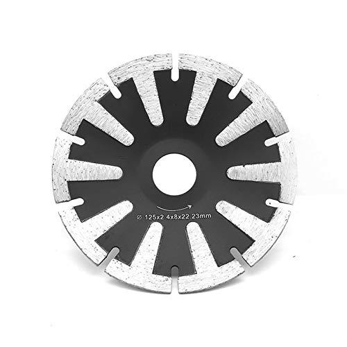 XIANGSHAN 125mm Prensa en Caliente T-Segmento de Cuchillas de Corte CNC Curva Diamante Hoja de Sierra for hormigón Granito Piedra Arenisca Uso en seco húmedo