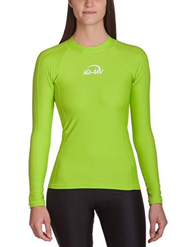 IQ UV Schutz Shirt Damen UV-Schutz Schwimmen Tauchen, grün (Neon-Green), XL