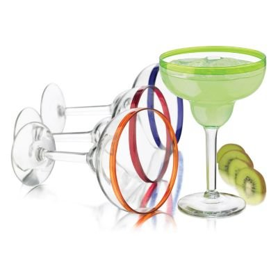 Libbey Colors Margarita Glass Set, 4-Piece