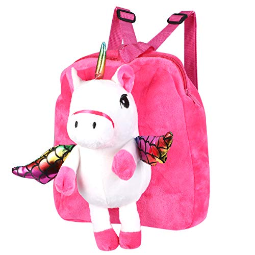 TENDYCOCO Unicornio Mini Mochila para bebé niñas Cartoon Animal School Mochila Pequeño Libro Bolsa Bolsa niños Mochila Caja