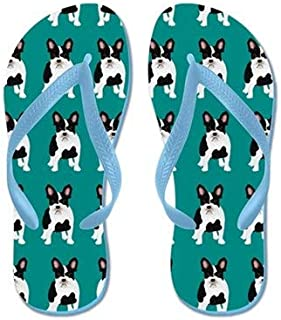 Lplpol Colorful Dachshunds Flip Flops for Kids Adult Beach Sandals Pool Shoes Party Slippers Black Pink Blue Belt for Chosen