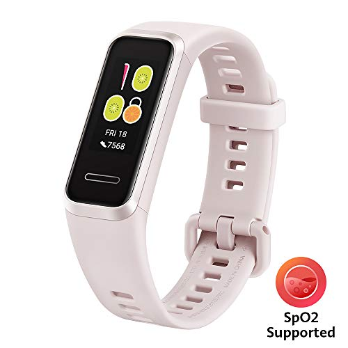 Huawei Band 4 wasserdichter Bluetooth Fitness- Aktivitätstracker mit Herzfrequenzmesser, Sport Band und Touchscreen, Sakura Pink