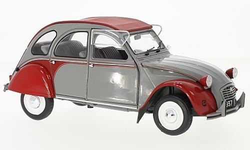 Citroen 2CV Dolly, grau/rot, 1985, Modellauto, Fertigmodell, Solido 1:18
