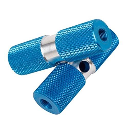 BUMSIEMO Pedal de tubo delgado abrazadera de truco pedal clavo 1 par aleación de aluminio eje pedal truco clavijas