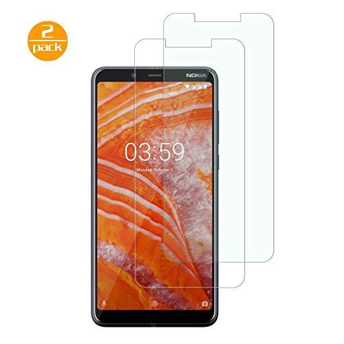 [2 Pack] Für Nokia 3.1 Plus Panzerglas Schutzfolie (Transparent), Bildschirmschutzglas Panzerfolie für Nokia 3.1 Plus Schutzglas Folie [Ultra-klar] [9H Festigkeit] [Kristallklar] [Bubble Free]