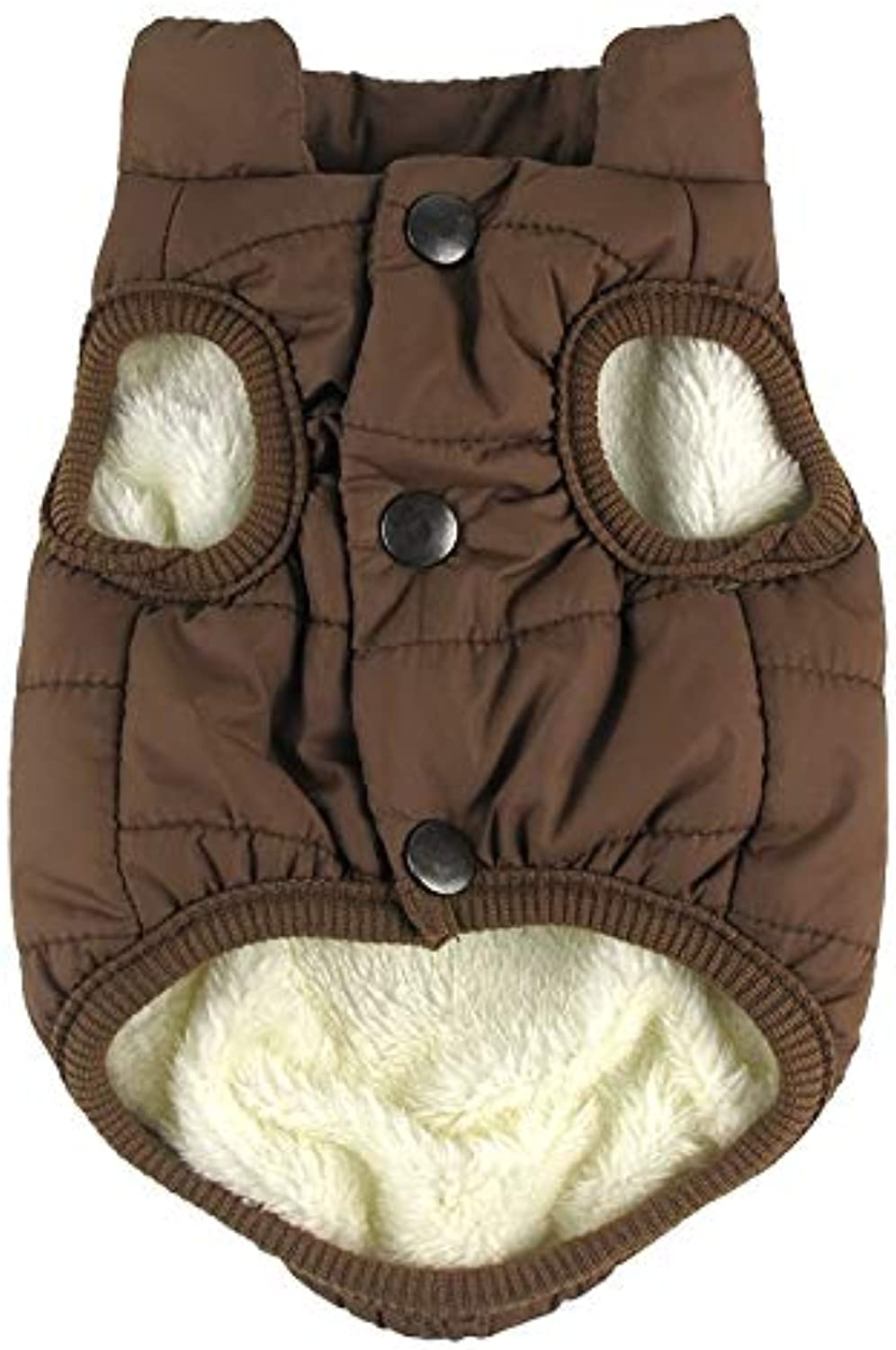 Pet Supplies hyx Winter Pet Coat Clothes for Dogs Winter Clothing Warm Dog Clothes, Size XL (color   Coffee)