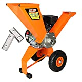 SPEED FORCE Self-Feed Wood Chipper Shredder 6.5 HP 208cc Gas Powered Wood Chipper EPA/CARB Certified (1 Set Extra Free Blade)
