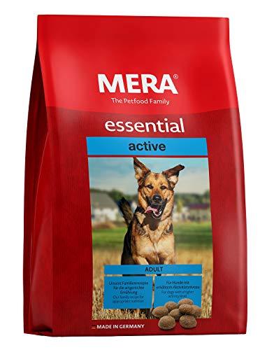 MERA essential Hundefutter > Active < Für ausgewachsene Hunde mit hohem Aktivitätsniveau - Trockenfutter mit Geflügel - Ohne Zucker & Konservierungsstoffe (12,5 kg)