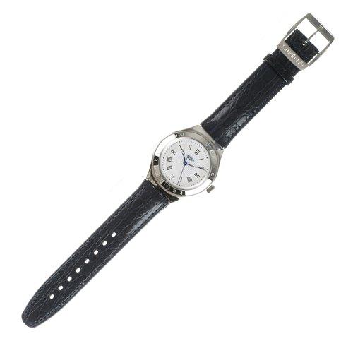 Swatch IRONY AUTOMATIC - Reloj analógico de caballero automático con correa de piel azul - sumergible a 30 metros